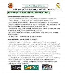 RECOMENDACIONES SEGURIDAD EN EL SECTOR COMERCIO