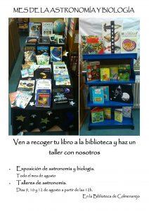 cartel talleres biblio