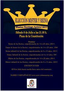 Elección de Mister y Reina de las Fiestas Patronales @ Plaza de la Constitución