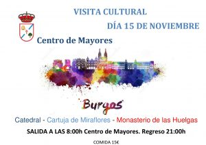 VISITA A BURGOS @ SALIDA 8:00h CENTRO DE MAYORES