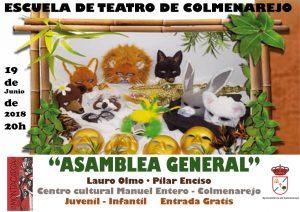 """Escuela de Teatro de Colmenarejo""""Asamblea general"""" @ Centro Cultural"""
