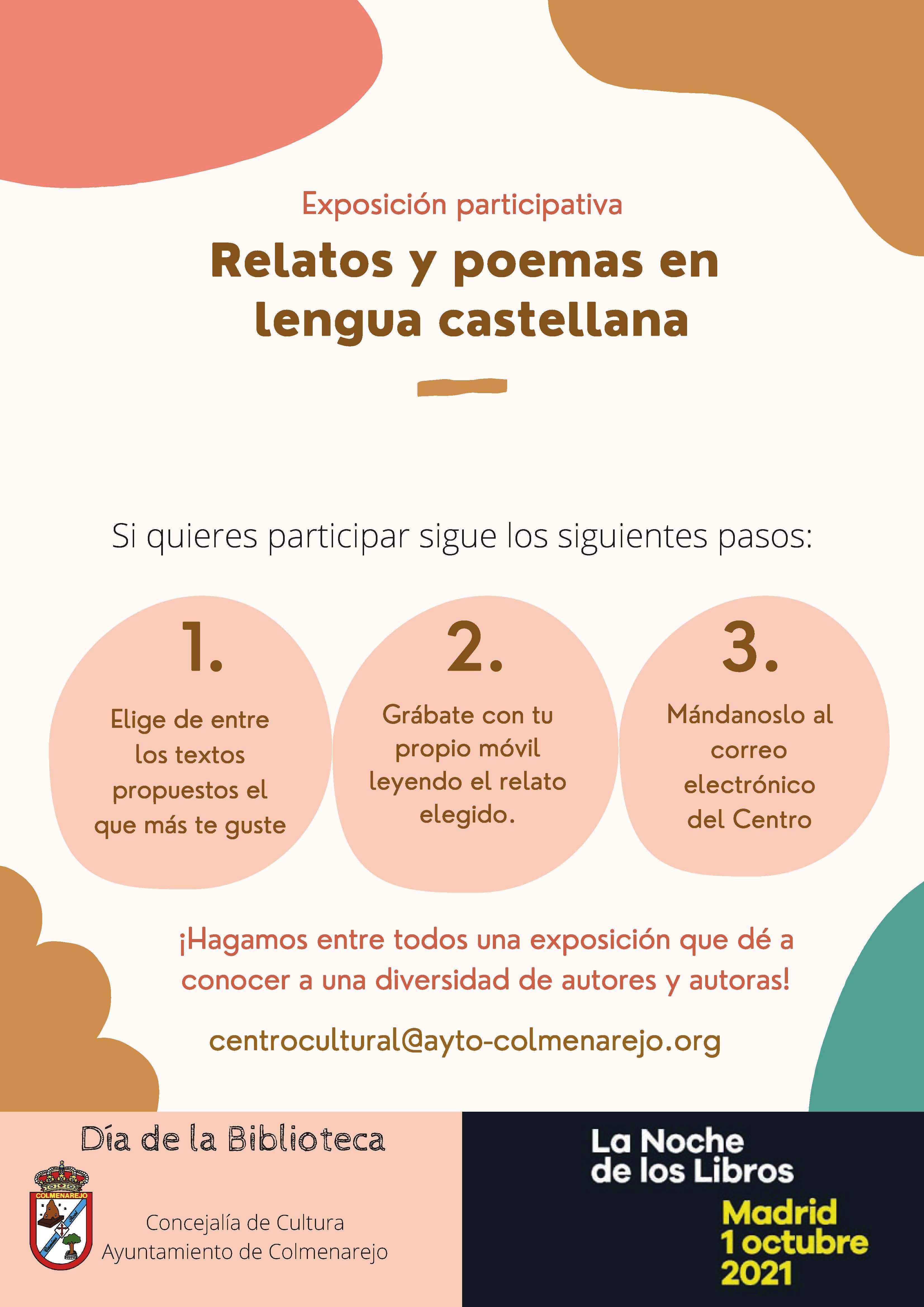 Exposición participativa: POEMAS Y RELATOS @ Centro Cultural