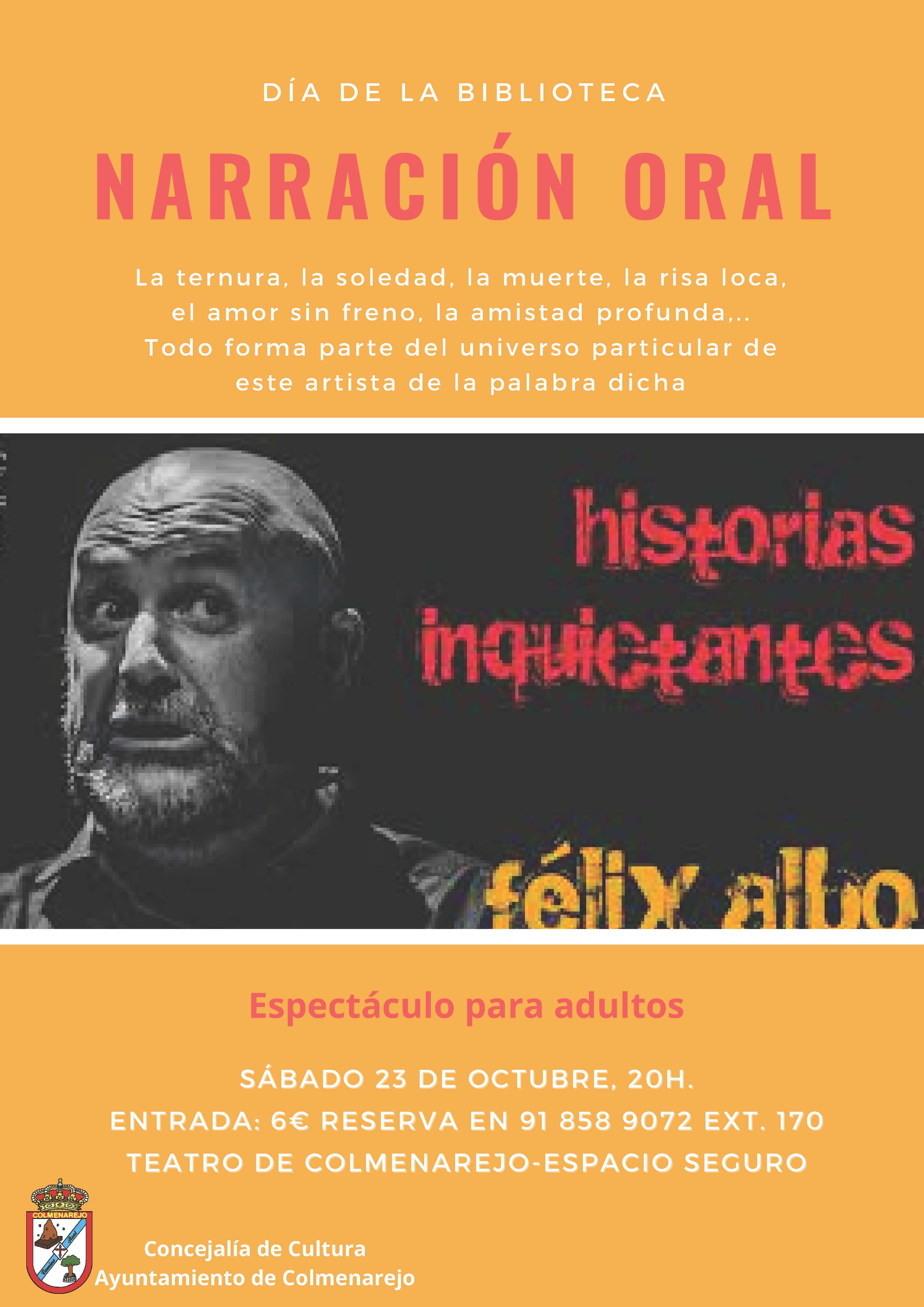 Narración adultos: HISTORIAS INQUIETANTES @ Teatro de Colmenarejo