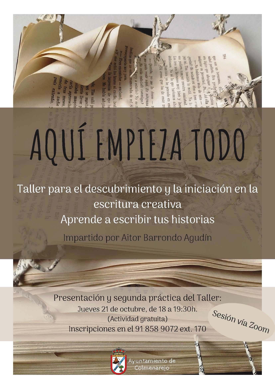 Presentación: TALLER DE ESCRITURA CREATIVA @ On line (vía Zoom)