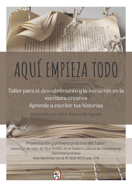 Taller: ESCRITURA CREATIVA @ Centro Cultural