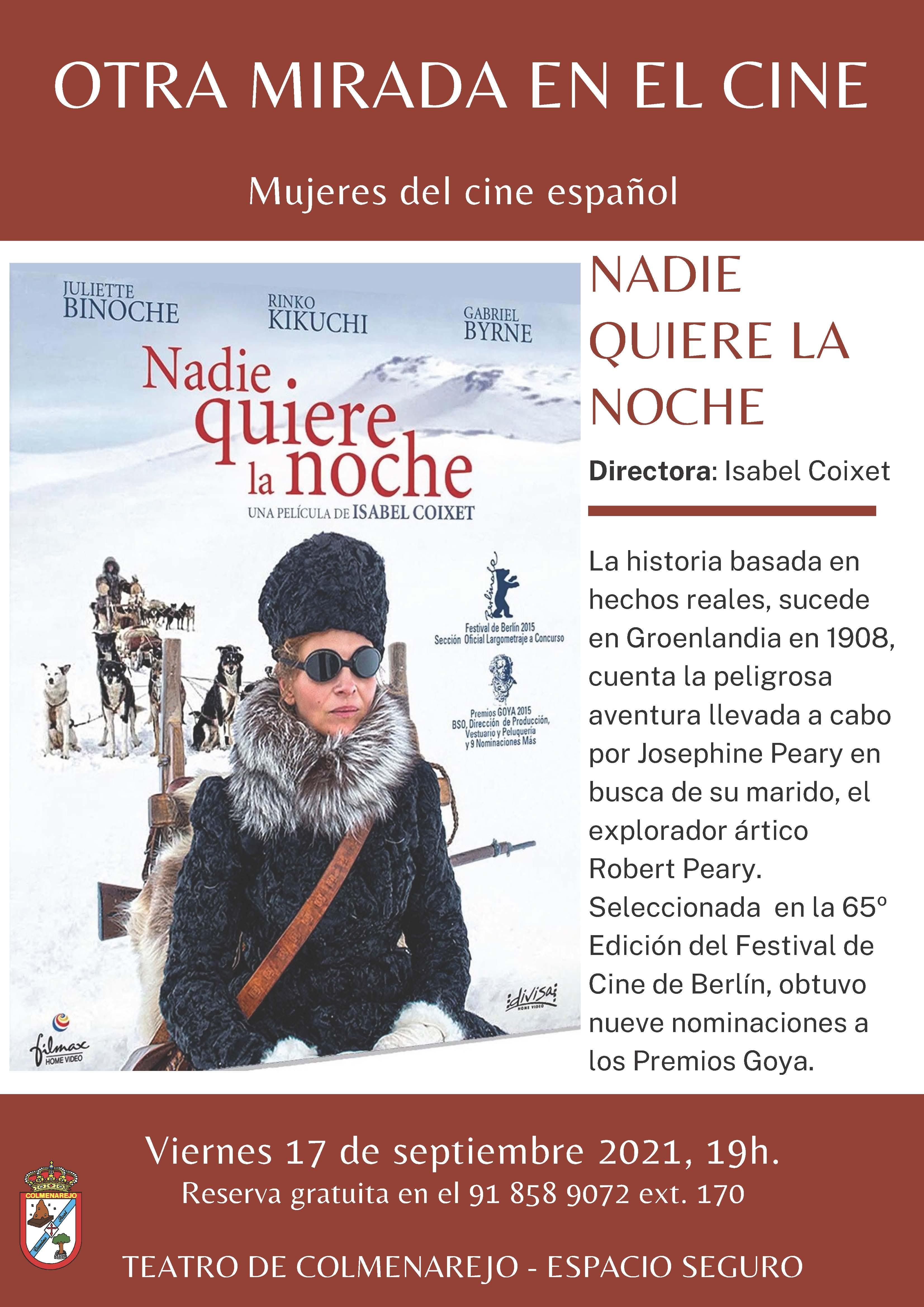 Cine: NADIE QUIERE LA NOCHE @ Teatro de Colmenarejo